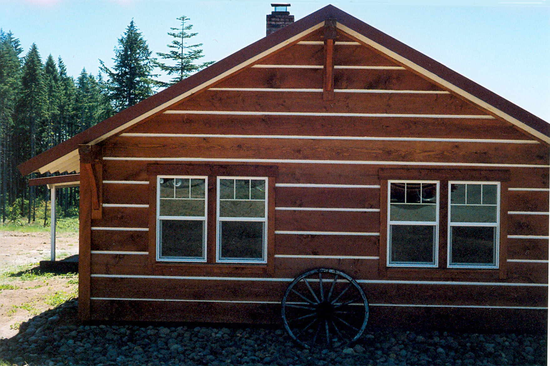 Cabin siding for mobile home for Log house siding options