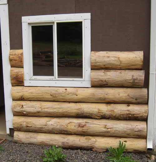 Log cabin exterior maintenance joy studio design gallery for Real wood siding